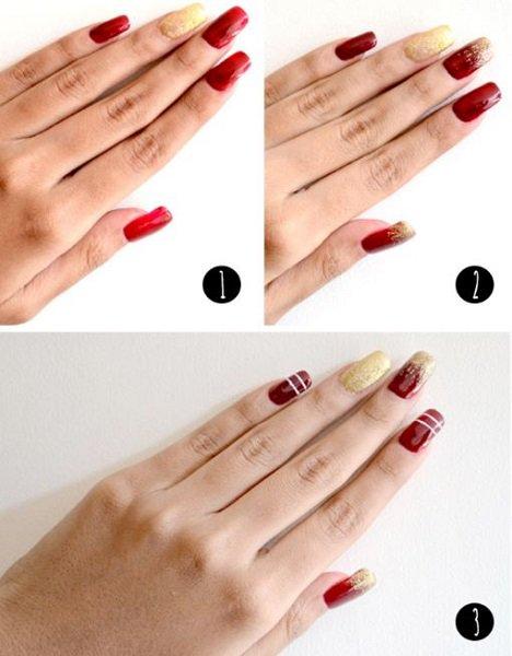 xristougenniatika nail art glitter
